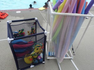 RAPS use a variety of pool toys and flotation devices to encourage the learn to swim process