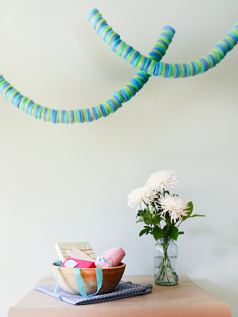 Pool Noodle Garland via Sugar & Cloth