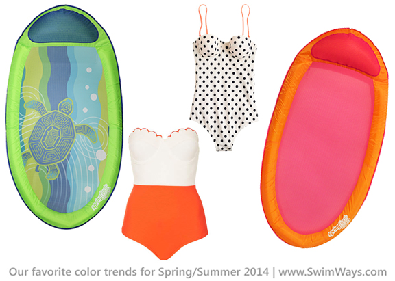 Accessorize your swimsuit with a brightly colored pool float