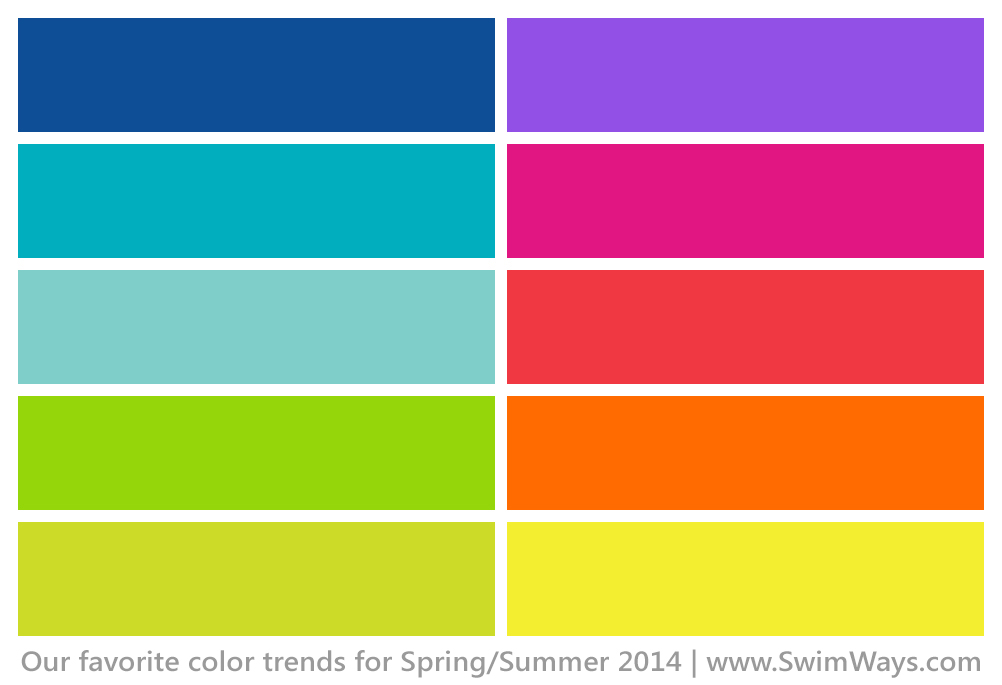 SwimWays Color Trends 2014