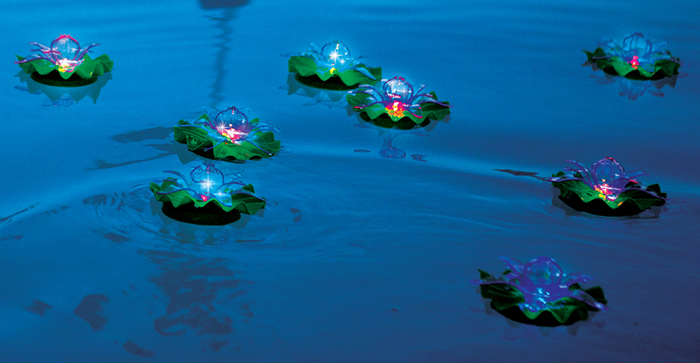 Floating Lotus Pool Lights