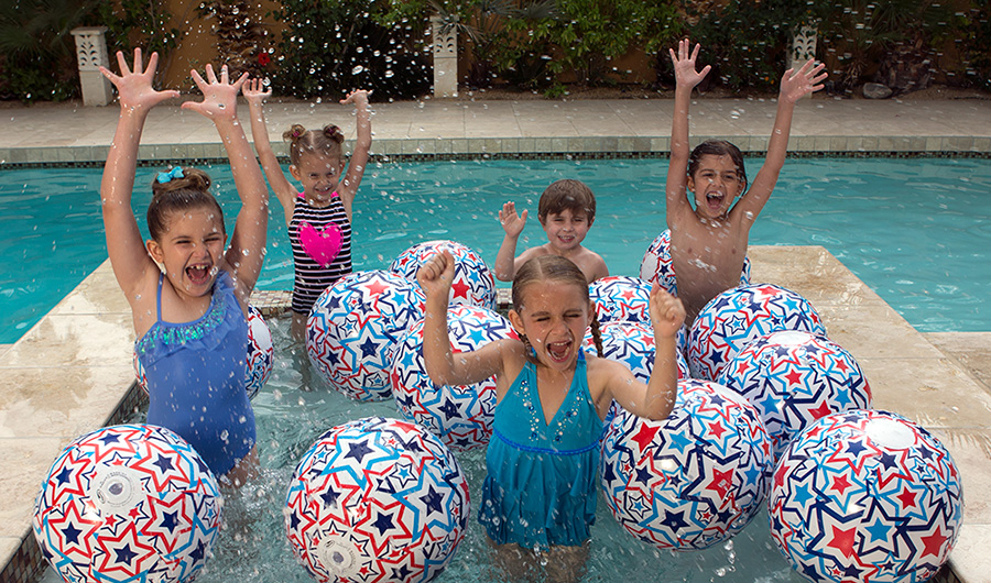 Children Make a Summer Smile Splash with the SwimWays Light-Up Beach Ball