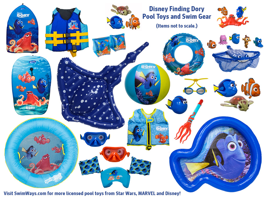 Disney Finding Dory Pool Toys and Kids Swim Gear