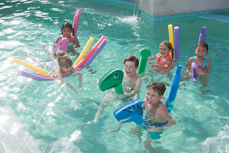 Pool Noodles and Aqua Riders
