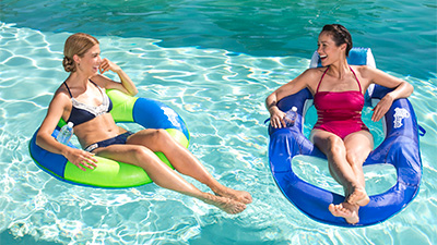 Spring Float Recliner and Spring Float SunTube Lounger