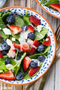 Red White and Blue Mason Jar Salad