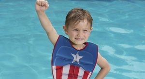 Kid's Captain America 3-D Swim Vest