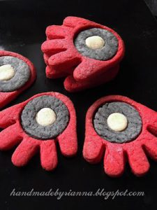Iron Man Hand-Print Cookies