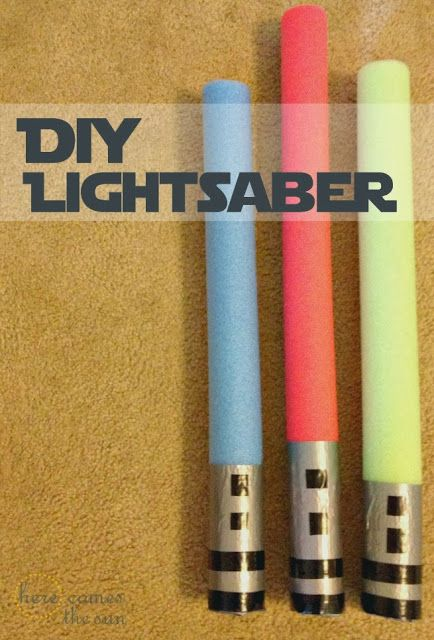 Pool noodle lightsabers