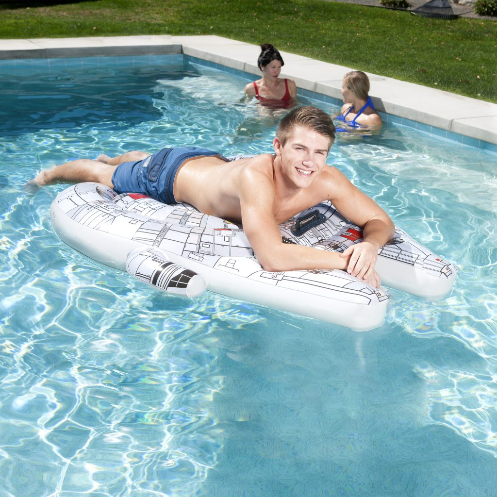 SwimWays Star Wars Millennium Falcon Ride-On Pool Float