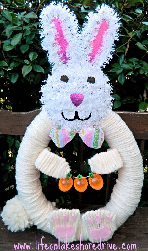 Pool Noodle Easter bunny