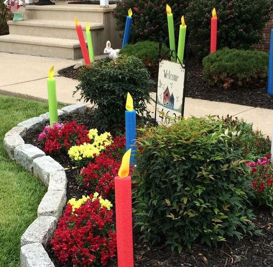 Pool noodle craft- yard candles
