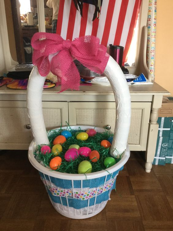 Pool noodle Easter Basket