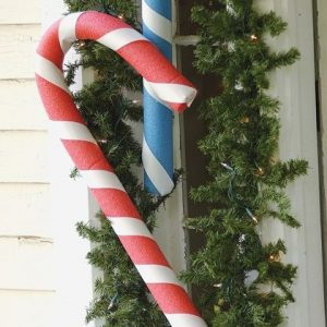 Pool Noodle Candy Canes