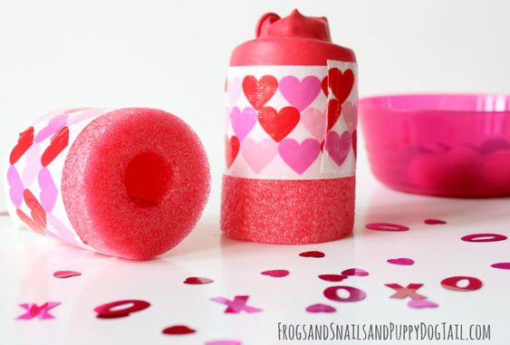 Valentine's Day Pool Noodle Crafts