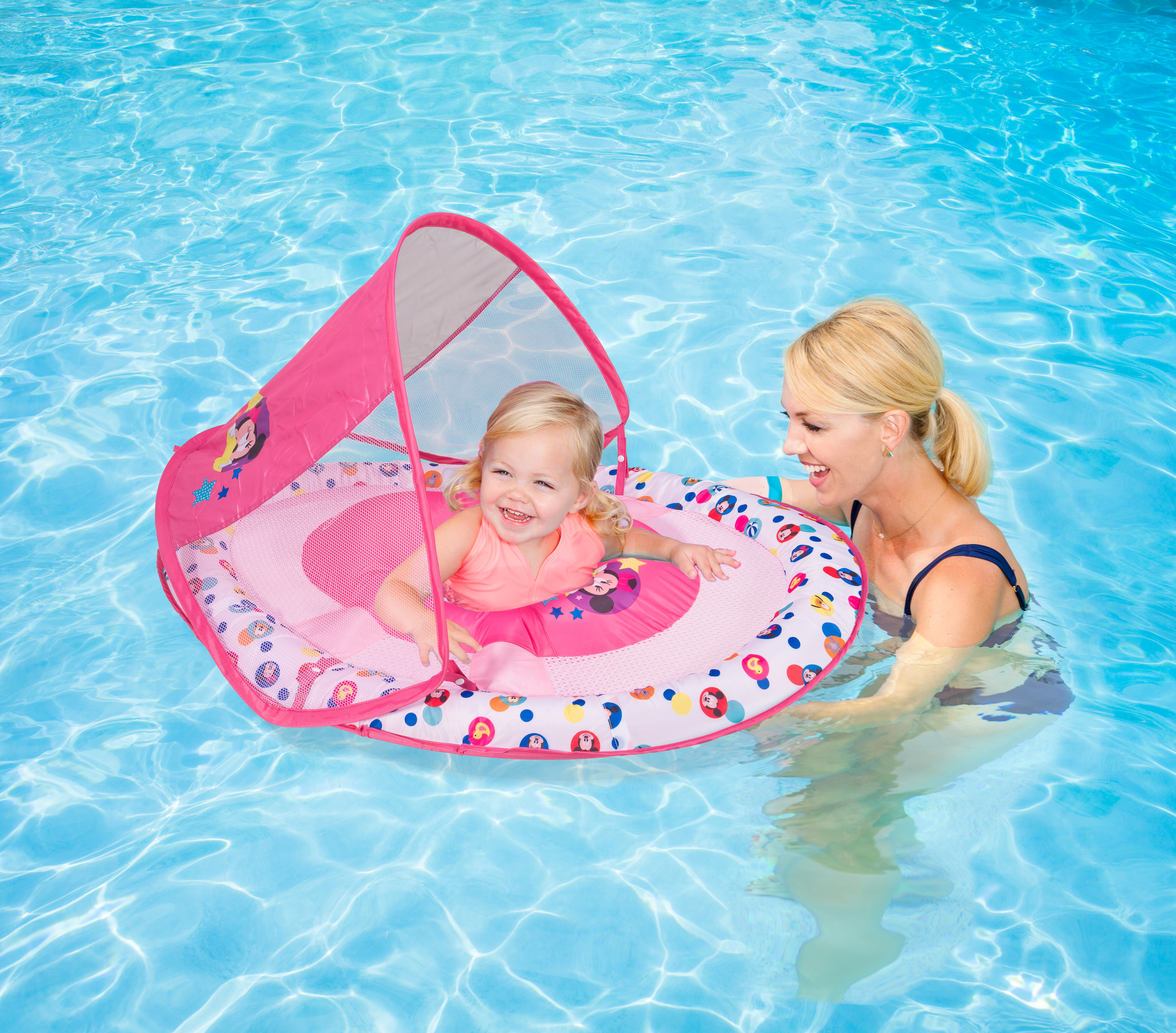 Minnie Mouse Baby Spring Float Sun Canopy pool float - SwimWays Blog