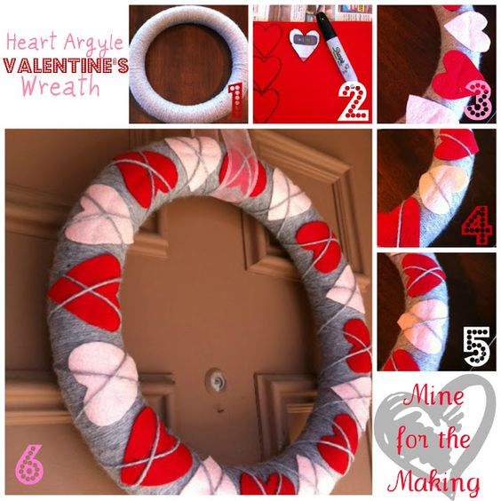 Valentine's Day Pool Noodle Wreath