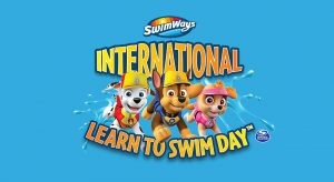 International Learn to Swim Day Logo with background