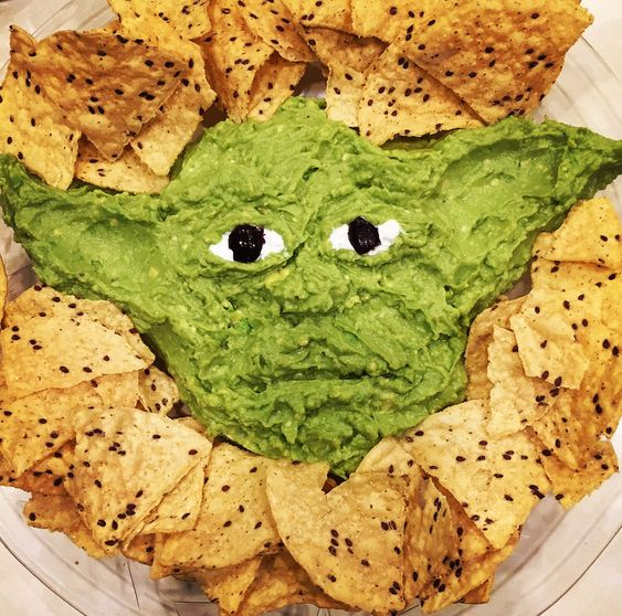 Yoda Chips and Guac Star Wars Pool Party Snack