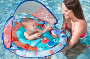 Swimways Baby Spring Float Splash Station with Canopy
